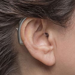 BTE with earmold hearing aid